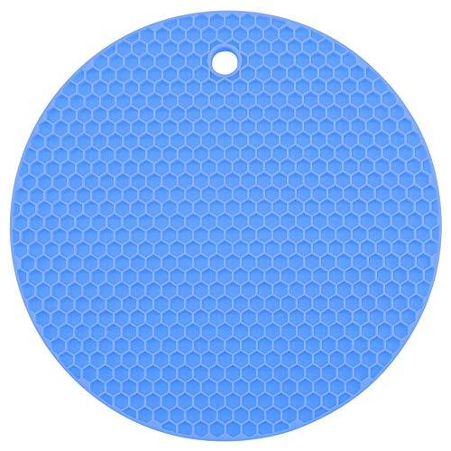 Waben - Untersetzer - Rund - Kochblume Farbe blau