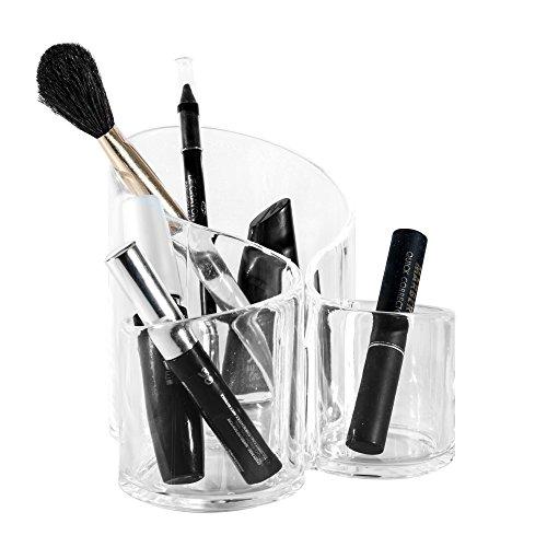 Solly´s Susann Kosmetik Organizer aus Acryl, Make Up Behälter Schminke Aufbewahrung, 3 Fächer