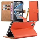 DTEK 50 Case - Funda tipo libro para BlackBerry DTEK 50 (función atril), color naranja