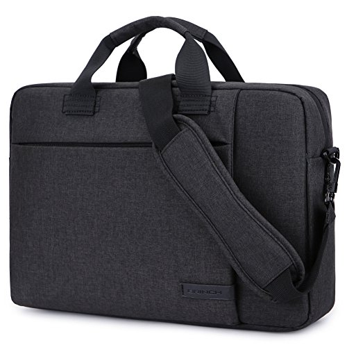 Laptop Bag 15.6 Inch,BRINCH Stylish Fabric Laptop Messenger Shoulder Bag Case Briefcase for 15-15.6 Inch Laptop/Notebook/MacBook/Ultrabook/Chromebook Computers (Black)