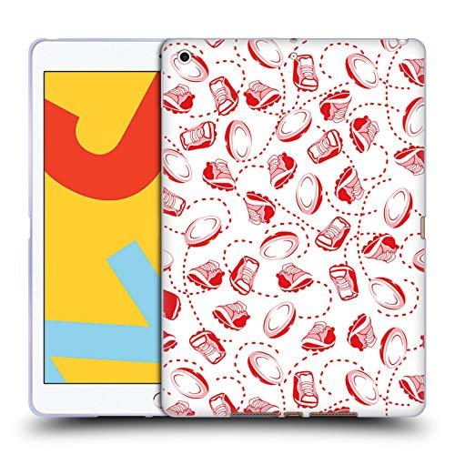 Officiële England Rugby Union Bal En Schoenen Patroon 2017/18 Kinderen Soft Gel Case Compatibel voor Apple iPad 10.2 (2019)