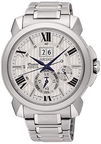 Seiko premier orologio Uomo Analogico Automatico con cinturino in Acciaio...
