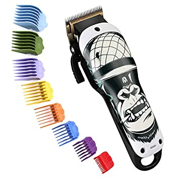 Pro Cordless Hair Clippers Electric Hair Cutting Machine Kit Rechargeable Wireless Hair Grooming Trimmers Set with 8 Color Guide Combs for Men Kids Babies Family Home