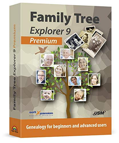 Family Tree Explorer 9 PREMIUM - Genealogy software and family tree maker for Windows 10, 8.1, 7 - compatible with the international GEDCOM format