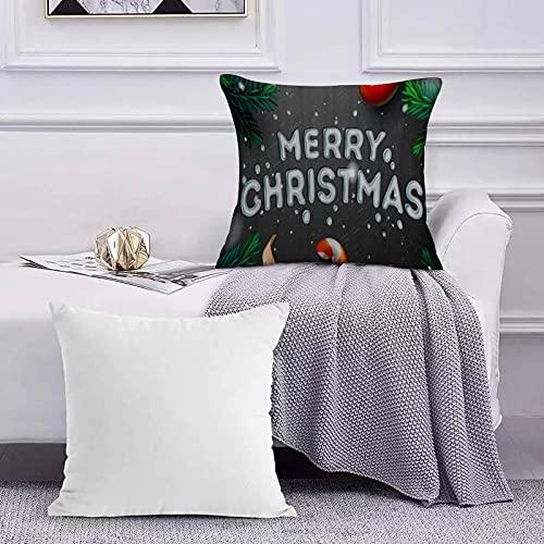 Funda de Cojín Funda de Almohada del Hogar Decoración de Navidad Carta Tema Animación Estilo Cinta Verde Hoja Imagen Sofá Throw Cojín Almohada Caso de la Cubierta para 45x45cm