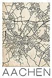 David Springmeyer: Retro Karte Aachen Deutschland Grunge -