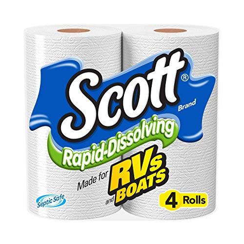Scott Rapid Dissolving Toilet Paper, Bath Tissue for RVs and Boats, 48 Rolls