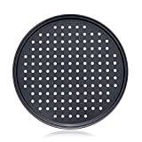 Alices 13 Inch/32CM Nonstick Carbon Steel Pizza Pan, Pizza Tray, Bakeware Perforated Round For Home Kitchen