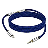 [New Version] 3-in-1 Aux Cord for iPhone, Autynie 3.5mm Aux Cable Compatible with iPhone 12 11/7/X/8 Plus/XS Max/XR to Car Stereo/Speaker/Headphone, Support Newest iOS 11.4/12/13.1 Version or Above