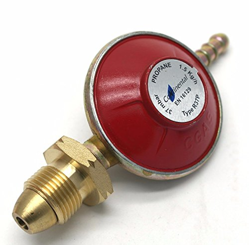 CONTINENTAL Propane Gas Regulator 37Mbar Standard Screw Type 1.5 Kg/H Fits Calor/Flogas