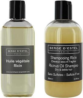 Serge D Estel Paris Champú sin Sulfato con aceite de Ricino 250ml Y Aceite de Ricino 100 ml. El cuidado nutritivo fortific...