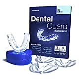 Toothspace Slim Mouth Guard for Teeth Grinding When Sleeping | Custom Night Guard that relieves TMJ pain | Moldable Dental Guard to prevent Bruxism and Teeth Clenching - Pack of 4 Guards in 2 Sizes