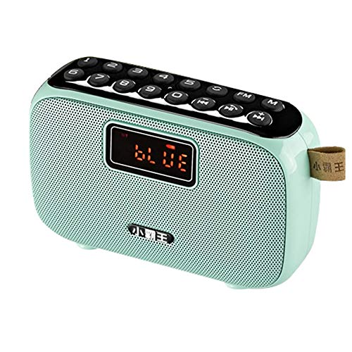 Find Bargain electronic product Portable Mini Fm Radio, Mini Home Wireless Bluetooth Super Accent Small Speaker, Two Functions to Use, Support Tf Card, U Disk, Smart Voice, Digital Song ZDDAB