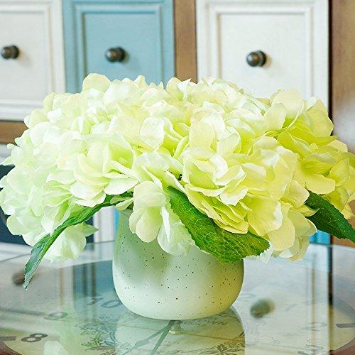 ZJJJH Kunstbloemen, decoratie, kunstplant in pot, idyllik, vaas, keramiek, decoratie hortensia, groen, producten van de bloem, bevat: kunstmatige bloemen