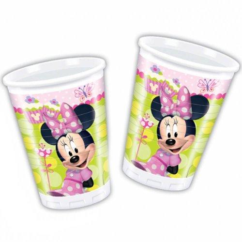 8 bicchieri in plastica monouso per festa Minnie Bow-Tique 200 cc