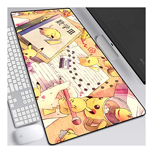 ITBT Mauspad Pokemon XXL Gaming Mauspad, 900x400mm Anime Mousepad, Höchstmaß an Präzision, extra stark vernähter Rand, gummierte Unterseite, Desktop Computer, F