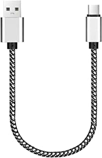 Vimoli Tipo C Cargador de Carga Rápida Mini 0,3M USB Type C Cable Fácil de Usar para Samsung S10 S9 S8 Note 9, Xiaomi Mi 9 Mi A2 Mi A1 Mi 8, Huawei P30, BQ Aquaris X, LG G6, Sony XZ2 (Plata)