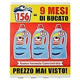 Omino Bianco Detergente líquido para lavadora, aroma fresco con esencia de almizcle blanco, 156 lavados, 2600 ml x 3 paquetes