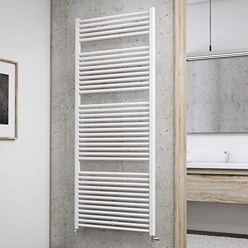 Schulte Badheizkörper München, 177 x 75 cm, 1386 Watt Leistung, Anschluss unten, alpinweiß, Designheizkörper, EP18075 04