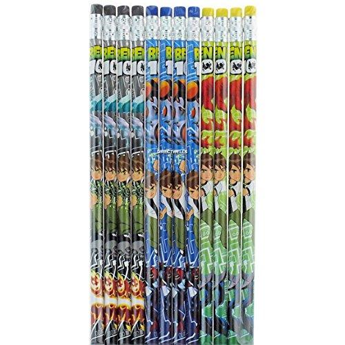 12 Pack Ben 10 Alien Force Pencils - Unsharpened Ben 10 Alien Force Pencils