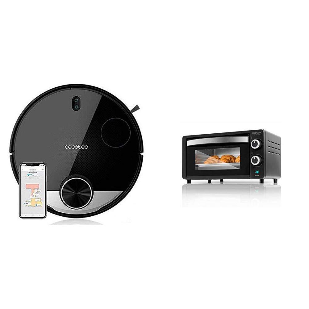 Cecotec Robot Aspirador Conga Serie 3290 Titanium + Horno Conveccion Sobremesa Bake&Toast 450: Amazon.es: Hogar