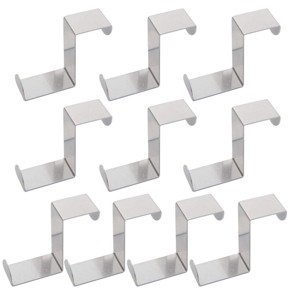 10 PCS Over Door Selling rankings Hooks Max 53% OFF Sturdy Z-Shaped Reversible Hanging