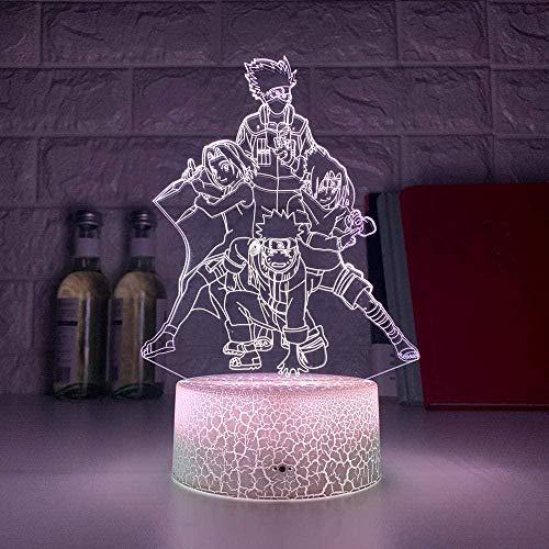 Tatapai Luz de noche 3D Illusion Lámparas LED Lámpara decoración para niños Lámpara de anime Illusion para niños dormitorio infantil Luz de noche RGB Colorido 3D Luz de noche LED Regalo de manga