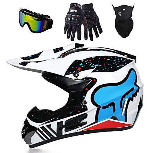Casco De Motocross Fox para Niños, Casco De Kart, Unisex, Carcasa De ABS, para Bicicleta De Montaña, ATV, BMX, Downhill Offroad,B,XL