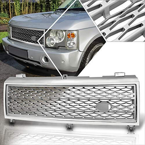 Front Bumper ABS Honeycomb Mesh Grill Grille Compatible with 03-05 Range Rover HSE L322 (Chrome)