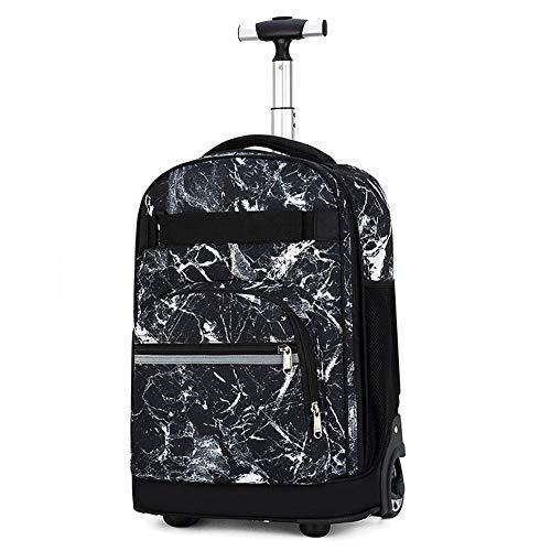Suytan Myalq Trolley Bags, Equipaje para Niños Maleta de Viaje Mochila con Ruedas Mochila Escolar para Niños Y Niñas de 46 Cm, (Multicolor), D,C