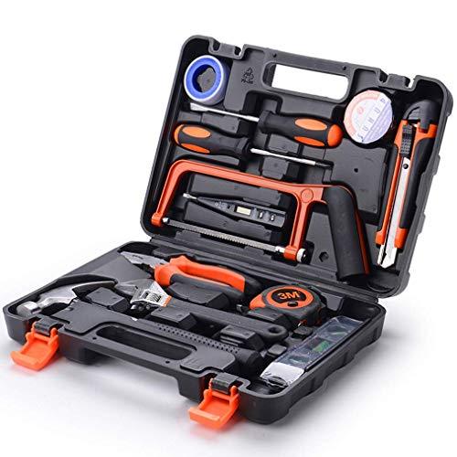 Home Tool Kit, 13-teiliges einfaches Haushaltswerkzeug-Kit mit Sägeschraubendreher und Schraubenschlüssel für Heimwerkerprojekte und tägliche Reparaturen Perfekt als Einweihungsgeschenk, Werkzeugset