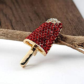 Fashion Women Crystal Rhinestone Enamel Brooch Pin Badge Corsage Christmas Gift | Color - Style-1 Red