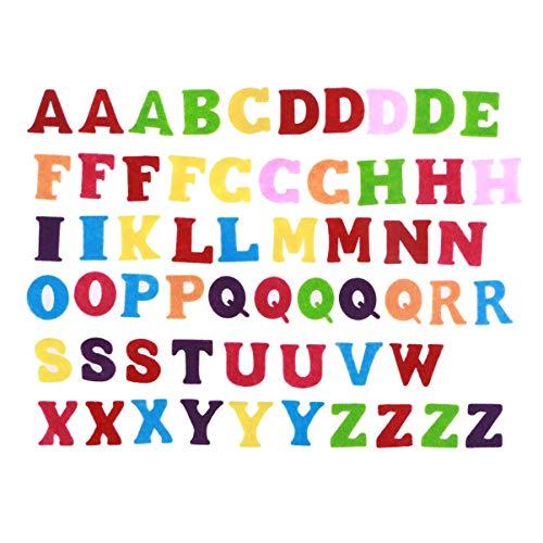 EXCEART 50 Piezas de Fieltro de Colores Letras Del Alfabeto Tela No Tejida Abc Letras Del Alfabeto Diy Craft Niños Juguetes Scrapbooking Decoración