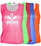 JANT girl Lacrosse Mesh Pinnie - If Lacrosse was Easy Logo (Neon Green, YL)