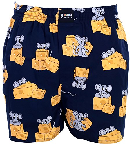 Happy Shorts Webboxer Herren Boxer Motiv Boxershorts Farbwahl, Grösse:L - 6-52, Präzise Farbe:Design 2