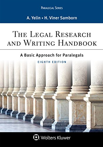 The Legal Research and Writing Handbook: A Basic Approach for Paralegals (Aspen Paralegal Series)