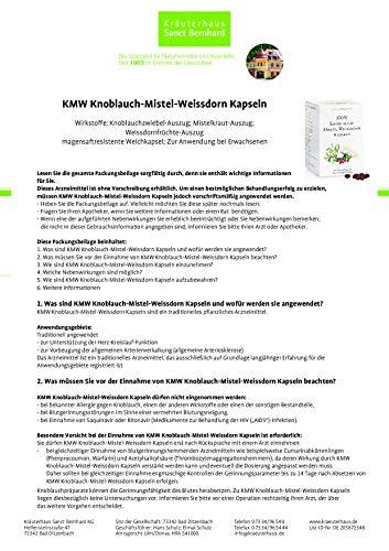 Sanct Bernhard KMW Knoblauch-Mistel-Weißdorn Kapseln, 480 Kapseln - 2