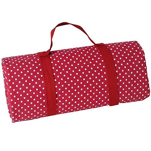 Les Jardins de la Comtesse picknickkleed, rechthoekig, XL - rood met witte stippen - katoen en achterkant waterdicht polyester - 280 x 140 cm - ook voor tuintafel - 8/12 personen - picknickkleed