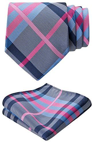 BomGuard Corbata Paisley pañuelo de inserción Schlips corbata estampado flores 8 cm Corbata para hombre Azul-Rosa Talla única