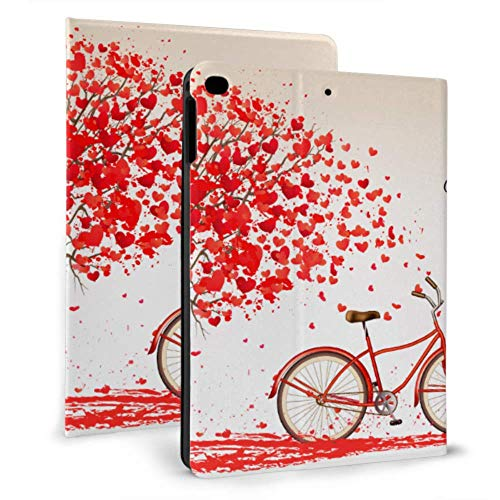 N\A iPad 9.7 Funda Valentines Day Bike Tree Made iPad Girl Cover para iPad Mini 4 / Mini 5/2018 6th / 2017 5th / Air/Air 2 con Auto Wake/Sleep Magnetic 9.7 iPad Case