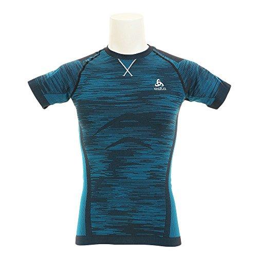 Odlo Evolution Light Blackcomb T-Shirt Homme, Blue Jewel/Noir, FR : M (Taille Fabricant : M)