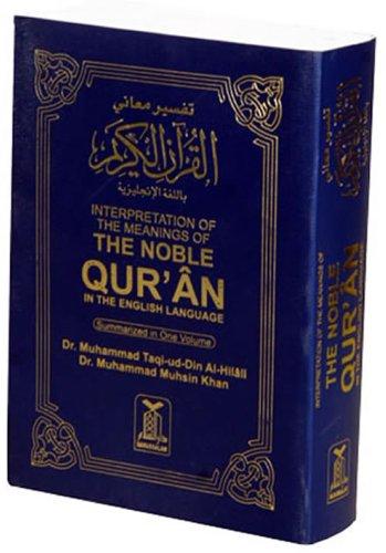 Arabic to English - Noble Quran (Pocket Size) Translated by Dr.Muhammad Muhsin Khan & Dr. Muhammad Taqi-ud-Din Al Hillali (34gm)
