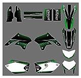 XIAOZHIWEN Kit de calcomanías y calcomanías de Fondo gráfico del Equipo de la Motocicleta for Kawasaki KLX450 2008-2012 Universal