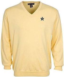 Oxford NCAA Vanderbilt Commodores Men's Devon V-Neck Sweater (Butter, X-Large)
