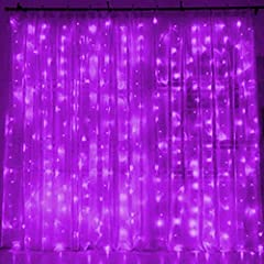 8 Modes settings: combination, in waves, sequential, slogs, chasing/flash, slow fade, twinkle/flash, and steady on. High quality: 300 purple individual LED lights. Dimension: 6.6ft x 9.8ft(Width x Length) per set. Extremely low in power consumption, ...