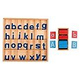 LOVIVER Juguete Material Montessori - Papel de Lija AZ / AZ Tablero de Alfabetos...