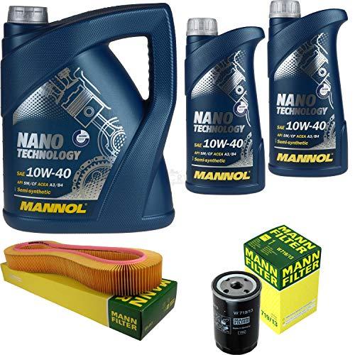Mannol 7 L Nano Technology 10W-40 - Aceite de motor + filtro para Mercedes-Benz 190 E 2.6