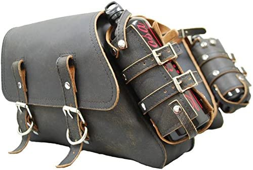 Ranking TOP13 La Rosa Design Sportster Throw-over Saddle Bag Blac - Rustic Direct stock discount Set