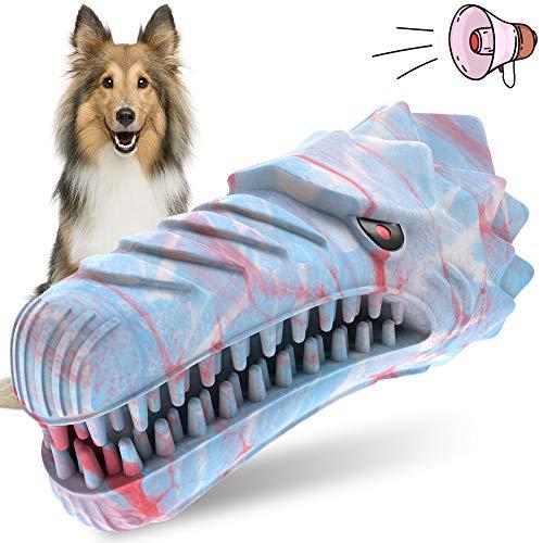 Oferta de Juguetes para perros Cepillo de dientes para perros Juguetes para masticar perros chillones indestructibles para razas medianas y grandes Masticadores agresivos Juguete de limpieza de dientes dentales