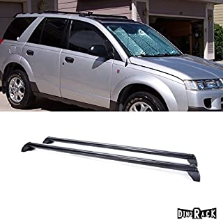 Laprive Auto 2pc 02-07 Saturn Vue Blk Aluminum Roof Rack Cross Bar Luggage Cargo Carrier Rail